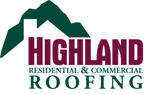 image shows highland residential and commercial roofing logo